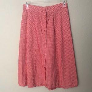Dresses & Skirts - Laura & Jayne Small Red Checkered Skirt